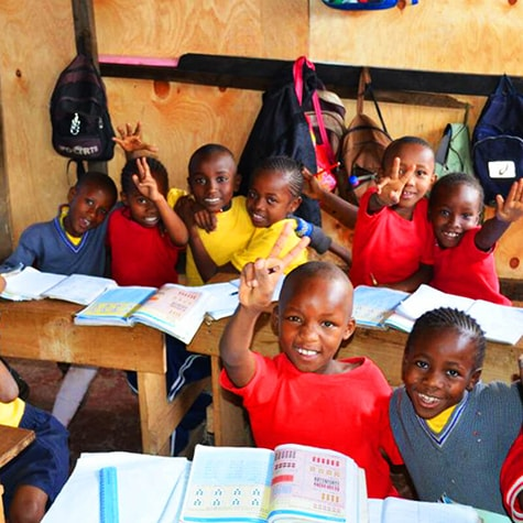 Fun in Tanzanian Classroom