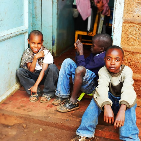 Kids Chilling Out in Tanzania