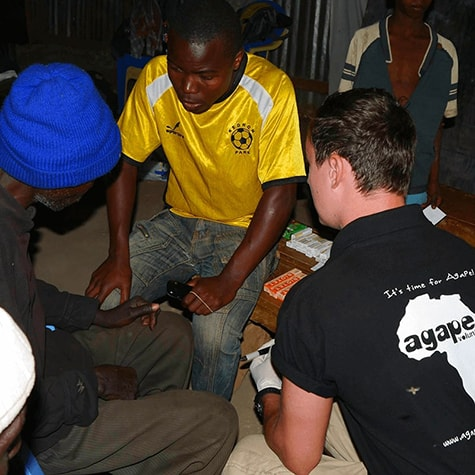 Medical Volunteer Helping Locals in Tanzania