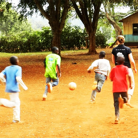 Kenya football volunteer