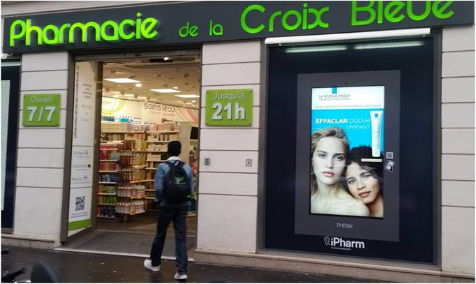 Ecran 75' 4K – réseau national Pharmacies