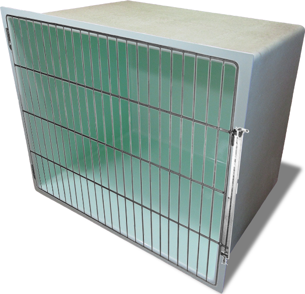 Creature Comfort Cages fibreglass animal cage with stainless steel hardware