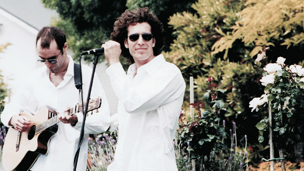 Acoustic Crème performing at a wedding