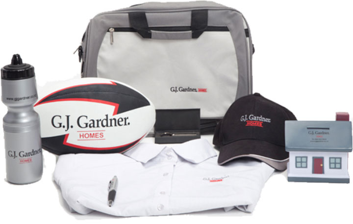 Custom merchandise created for G.J. Gardner
