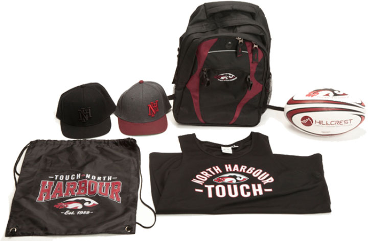 Custom merchandise created for Touch North Harbour