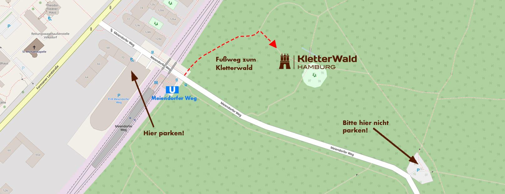Lageplan Kletterwald