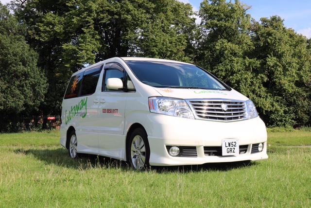 Toyota Alphard - part of the Getaway Campers campervan fleet