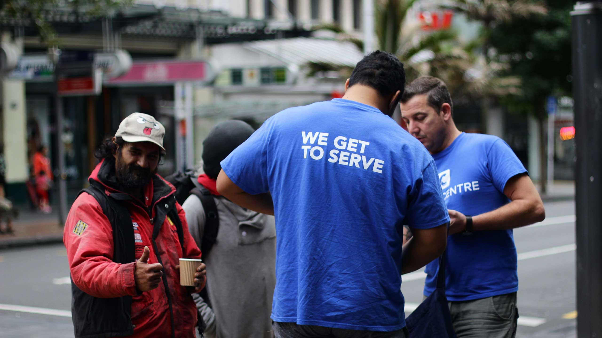 Dream Centre staff serving in Auckland city