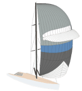 Animiertes Segelschiff