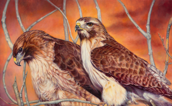 """""""Standing Guard"""" - 16""""x 26"""" Oil on Linen- Prints Available"""